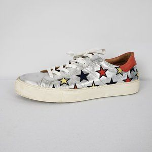 Skechers Silver & Orange Star Sneakers Size 9